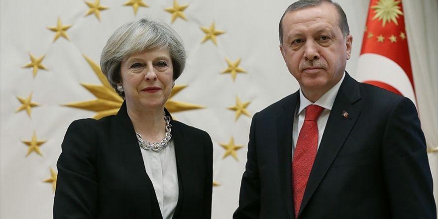 Cumhurbaşkanı Erdoğan, May İle Kudüs'ü Görüştü
