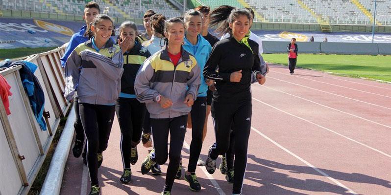 Atletler şampiyonaya hazırlanıyor
