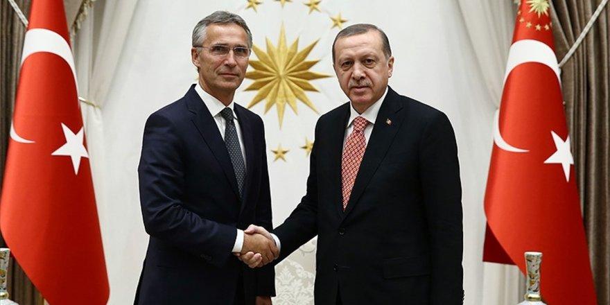 Cumhurbaşkanı Erdoğan, Stoltenberg İle Suriye'yi Görüştü