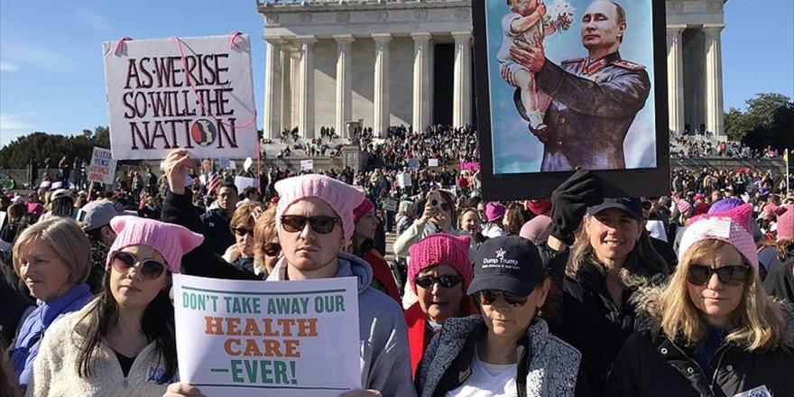 Abd'de Trump Karşıtı 'Kadınlar Yürüyüşü'