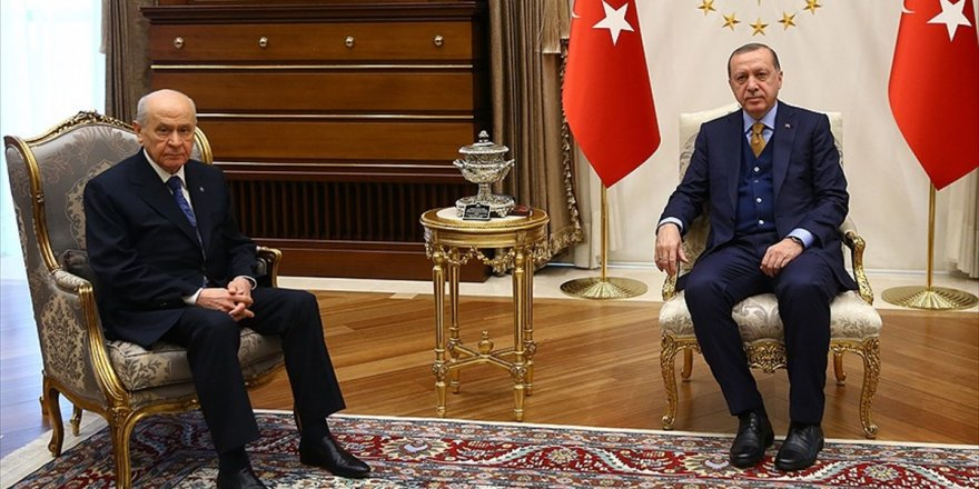Cumhurbaşkanı Erdoğan İle Bahçeli Zeytin Dalı Harekatı'nı Görüştü