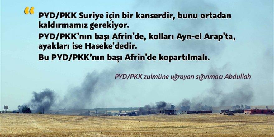 Pyd/pkk Zulmüne Uğrayan Sığınmacı Abdullah: Pyd/pkk'nın Başı Afrin'de Koparılmalıdır