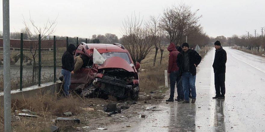 Çumra'daki kazada yaralan sürücü kurtarılamadı