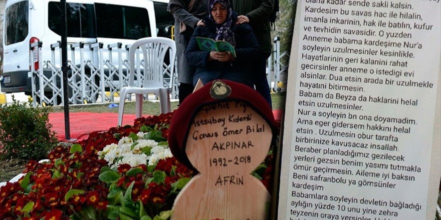 Afrin Şehidi Akpınar'ın Vasiyeti Yerine Getirilecek