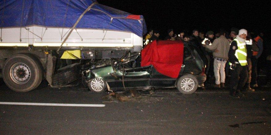 Konya'da feci kaza:1 ölü, 1 ağır yaralı