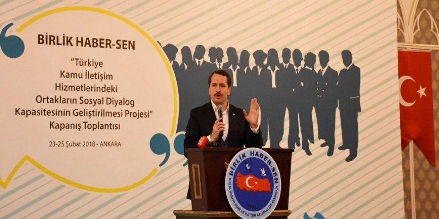 Memur-Sen Genel Başkanı Yalçın'dan, çalışma barışı ve sosyal diyalog vurgusu