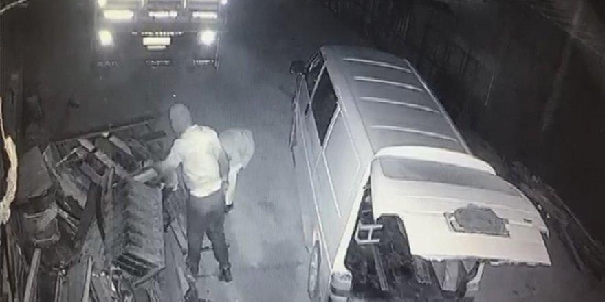 Konya'da araba yedek parçası hırsızlığı