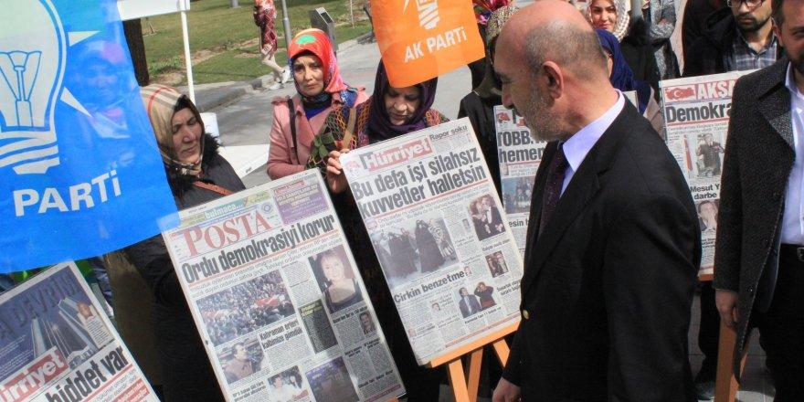 Konya'da '28 Şubat'ın Manşetleri Sergisi' açıldı