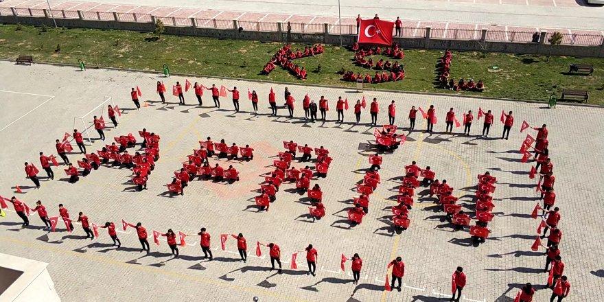 """Konya Spor Lisesi Öğrencilerinden """"Afrin"""" Koreografisi"""