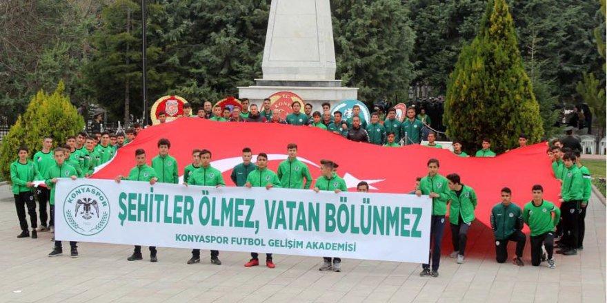 Konyaspor Akademisi 18 Mart etkinliklerine katıldı