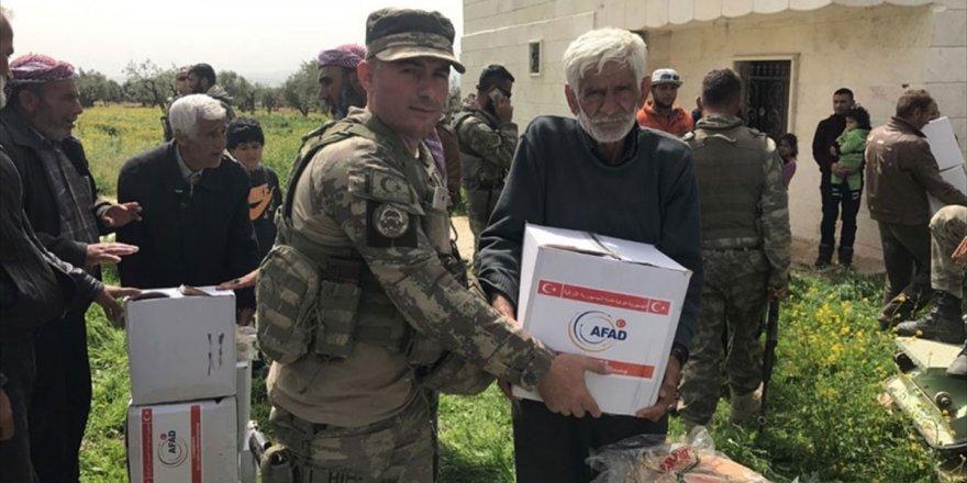 Afrin'de Terörden Arındırılan Köylere İnsani Yardım