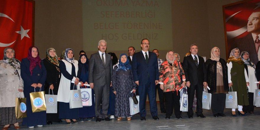 Konya'da 7 bin 645 kişiye okuma yazma öğretildi