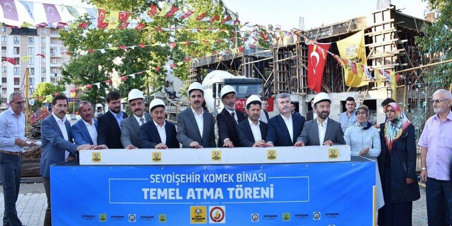Seydişehir KOMEK binasının temeli atıldı