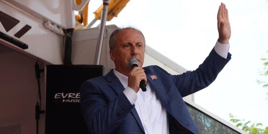 """CHP Cumhurbaşkanı adayı İnce: """"2.5 milyon Suriyeli daha gelebilir. Eğer gelirlerse yandık"""""""