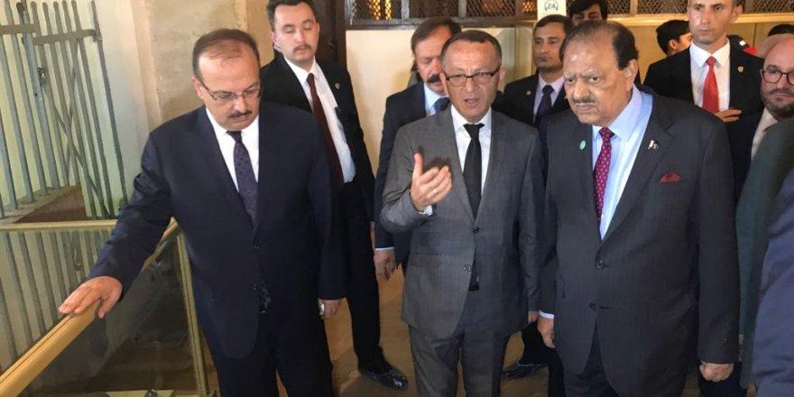 Pakistan Cumhurbaşkanı Hüseyin Konya'da