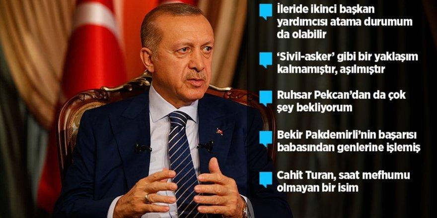 Erdoğan Yeni Sistemin İlk Kabinesini Değerlendirdi