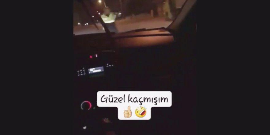 Polisten kaçış videosunu sosyal medyadan paylaşınca yakalandı