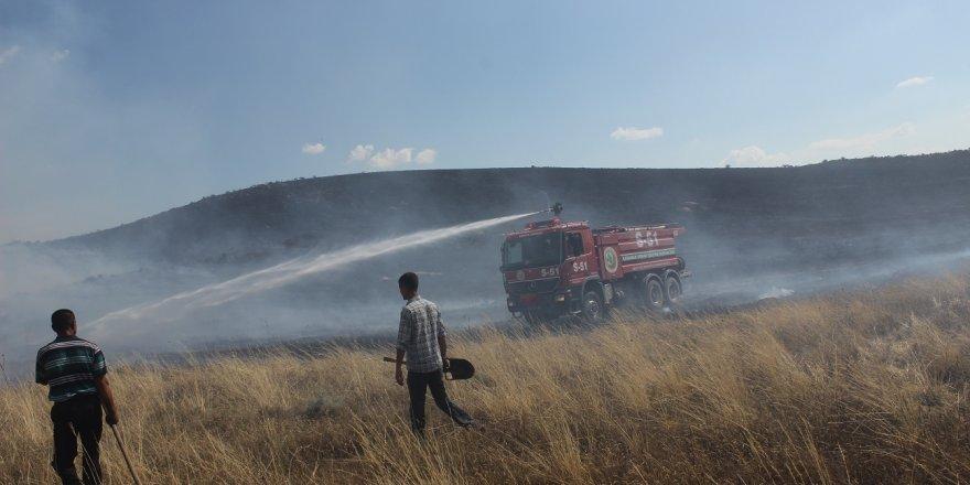 Konya'da Erozyon Sahasında Yangın