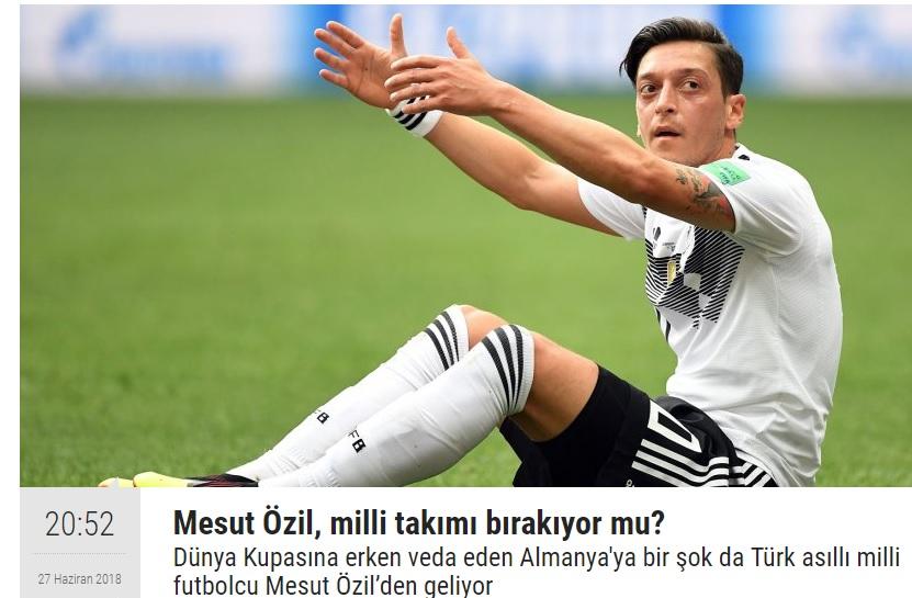 PUSULA, Mesut Özil'in milli takımı bırakacağını haftalar önce açıklamıştı