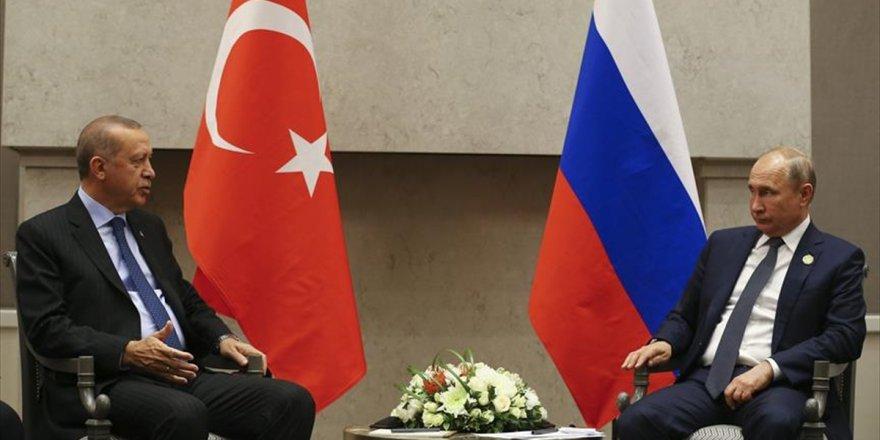 Cumhurbaşkanı Erdoğan İle Putin Görüştü