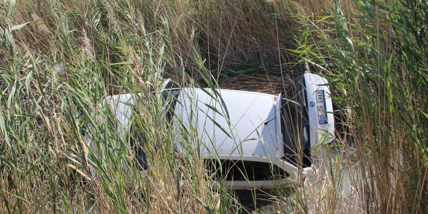 Konya'da otomobil sulama kanalına düştü: 4 yaralı