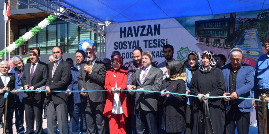 HAVZAN SOSYAL TESİSİ VE ÇOCUK SOKAĞI AÇILDI