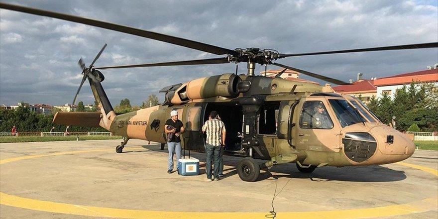 Tsk Helikopteri Organ Nakli İçin Havalandı