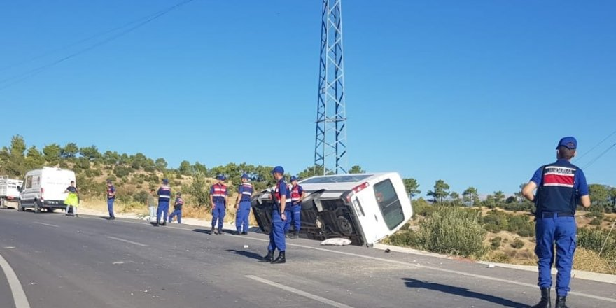 Ermenek'te cenaze dönüşü kaza: 1 ölü, 7 yaralı