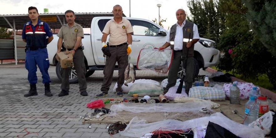 Koruma altındaki kuşları avlayan kişiye 7 bin lira ceza