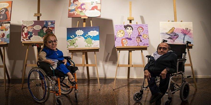 'Cam Kemik Hastaları'ndan Karikatür Ve Resim Sergisi