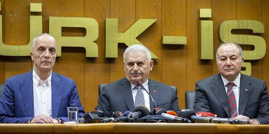 Tbmm Başkanı Yıldırım: Türk-iş'i Ziyaretim Yaşananlara Karşı Bir Cevaptır