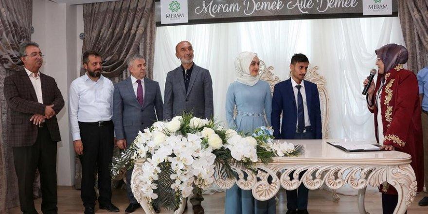 Meram'da 2018 yılında 2 bin 424 nikah kıyıldı