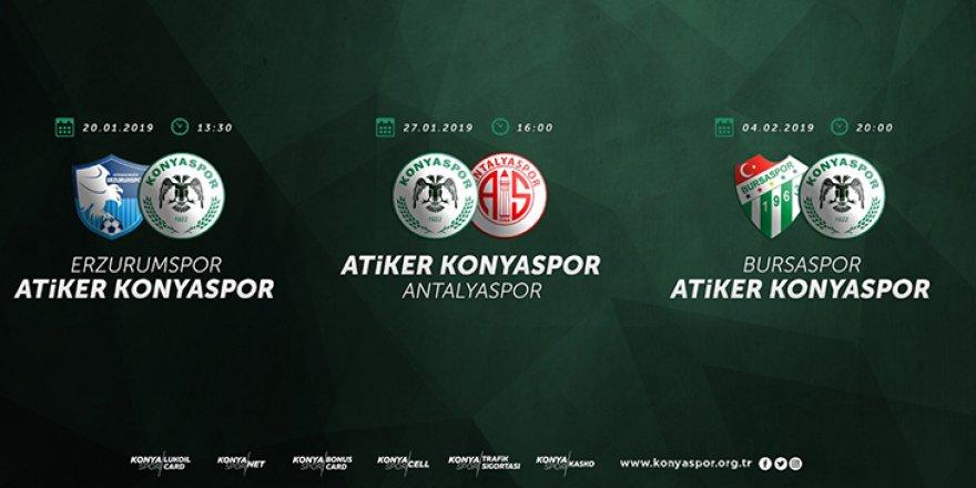 Konyaspor'un Erzurum maçı 20 Ocak'ta