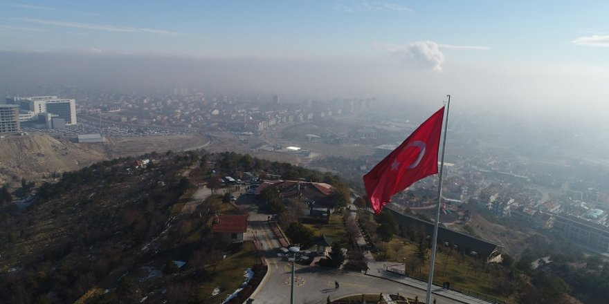 Konya'da eşsiz sis manzarası