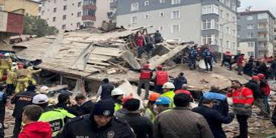 Kartal'da Çöken Binanın Enkazındaki Arama-kurtarma Çalışmaları Tamamlandı