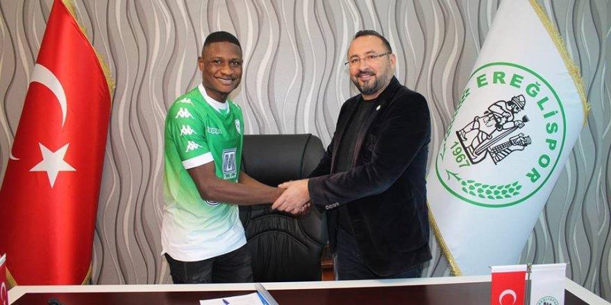 Ereğlispor'a Nijeryalı futbolcu