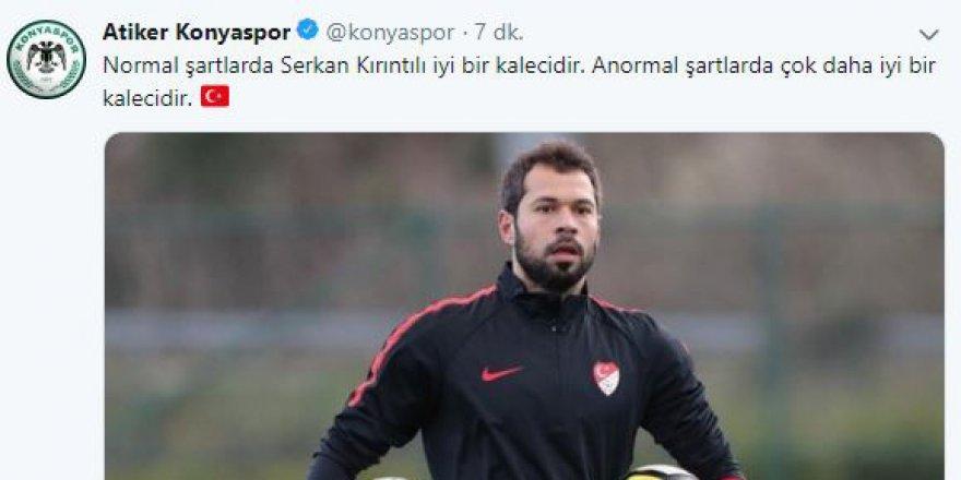 Atiker Konyaspor'dan Serkan göndermesi