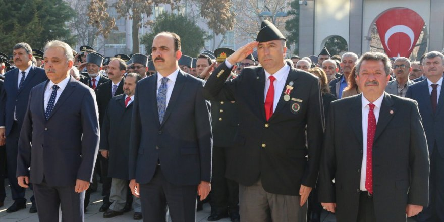 Konya'da 18 Mart Şehitleri Anma Günü Töreni