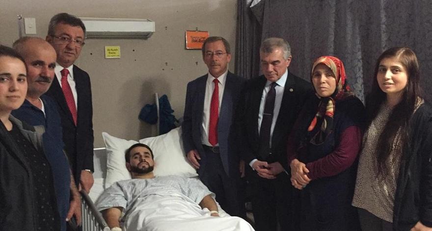 Şener, Böztaş ailesini hastanede ziyaret etti
