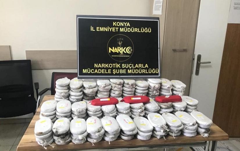 Konya'da 44 kilo 200 gram esrar ele geçirildi