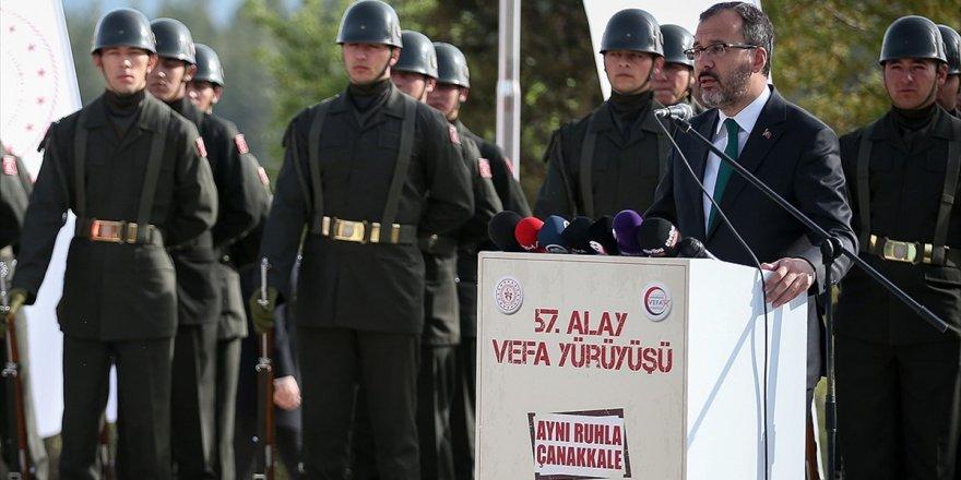 Gençlik Ve Spor Bakanı Kasapoğlu: 57. Alay Kardeşlik Tapusudur