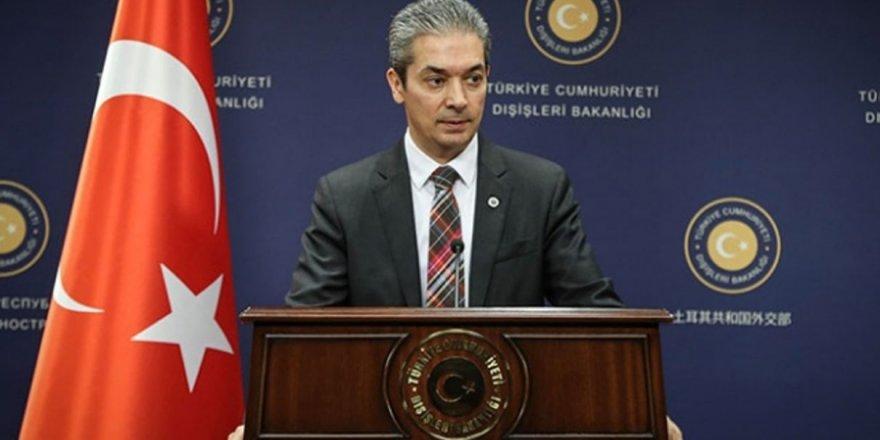 """Dışişleri Bakanlığı Sözcüsü Aksoy: """"ABD'nin F-35 konusunu tehdit unsuru olarak dile getirmesi yakışık almıyor"""""""