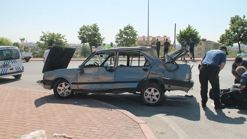 Konya'da otobüs ile çarpışan otomobilin sürücüsü hayatını kaybetti