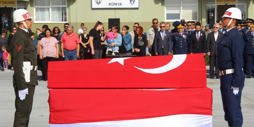 Şehit asker için Konya'da tören düzenlendi