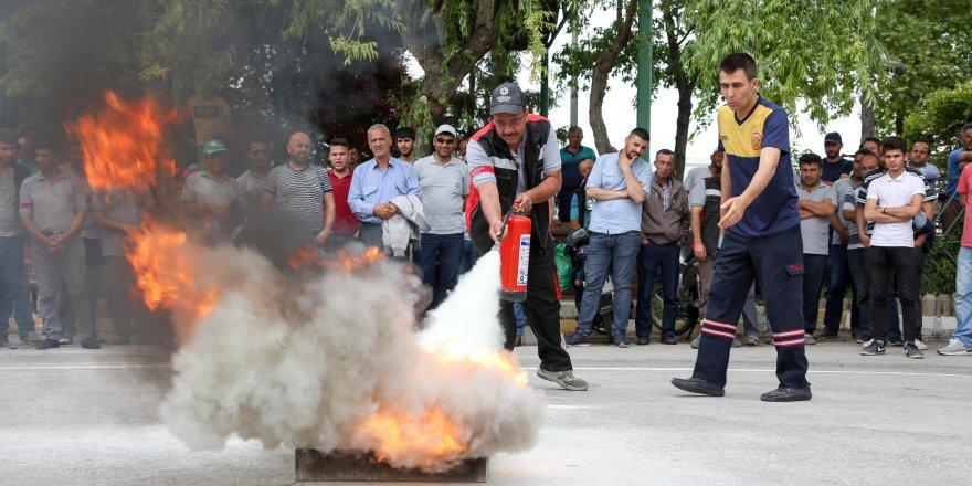 Meram Belediyesi personeline yangın eğitimi