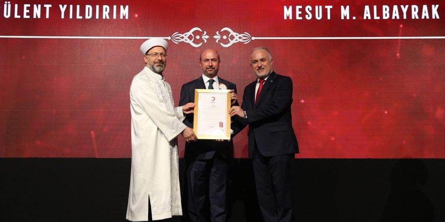 Türk Kızılay'ından Selçuklu Belediyesine altın madalya