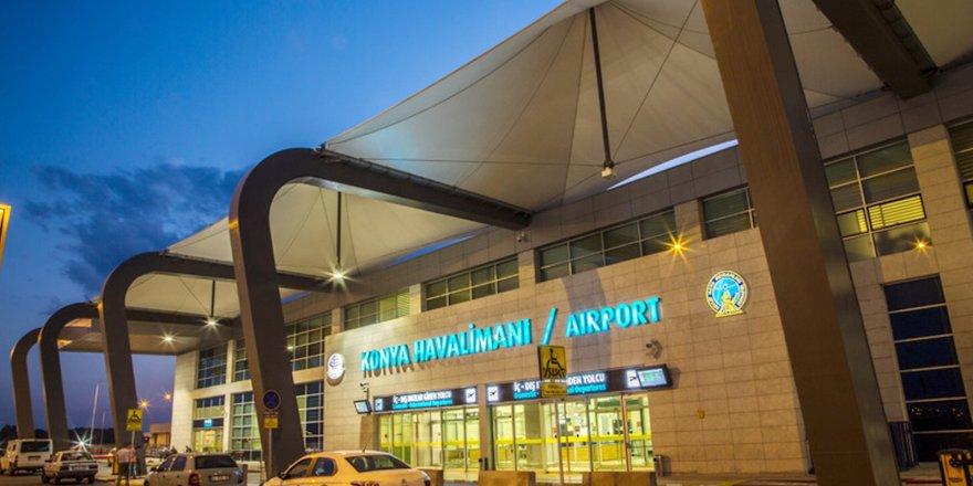 Konya Havalimanında haziranda 85 bin 725 yolcuya hizmet verildi