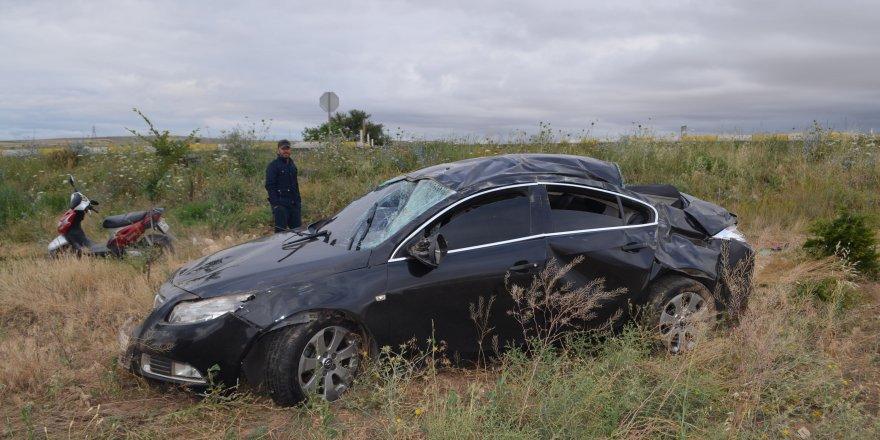 Konya'da Otomobil Şarampole Devrildi: 6 Yaralı