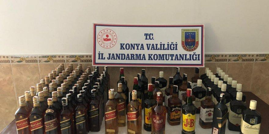 Akşehir'de Kaçak İçki Operasyonu