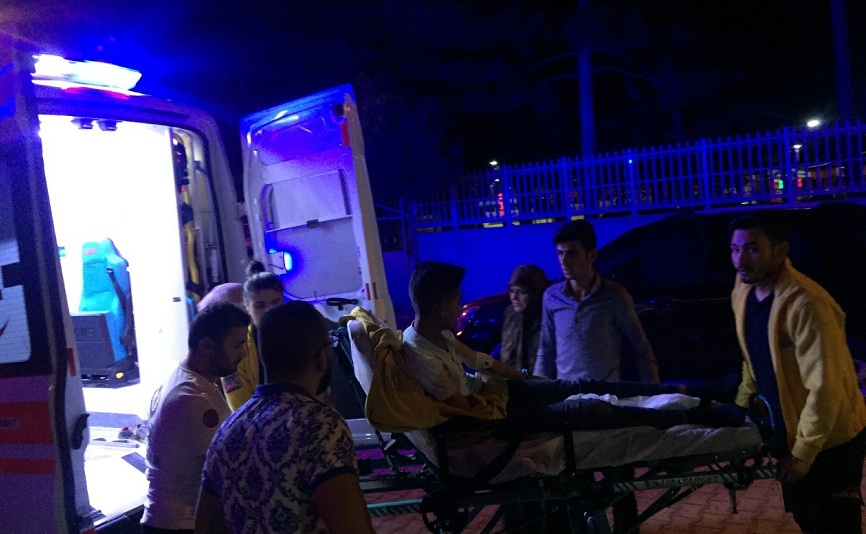 Otomobil ile elektrikli bisiklet çarpıştı: 1 yaralı